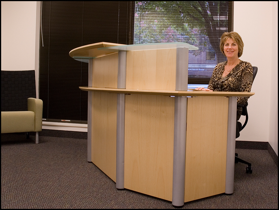Reception area, Fairfax Innovation Center