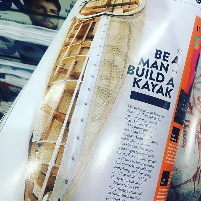 Time to build. Thanks @gqaustralia #kayak #handmade #woodenboat #skinonframe #project