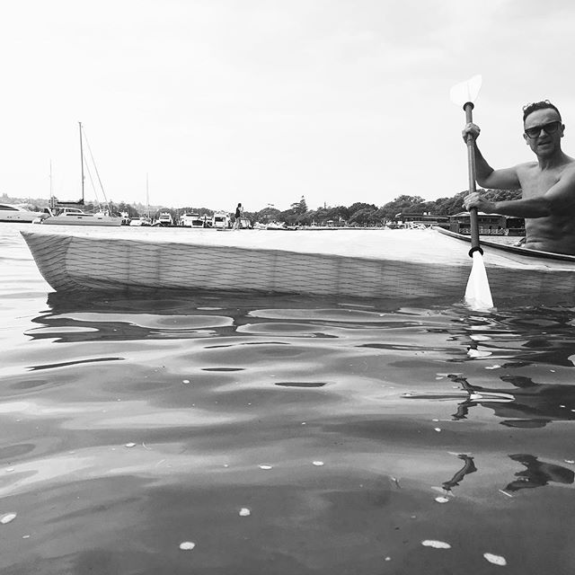 Black and white on a full colour day. #handmade #skinonframe #woodenboats #sydney #kayak