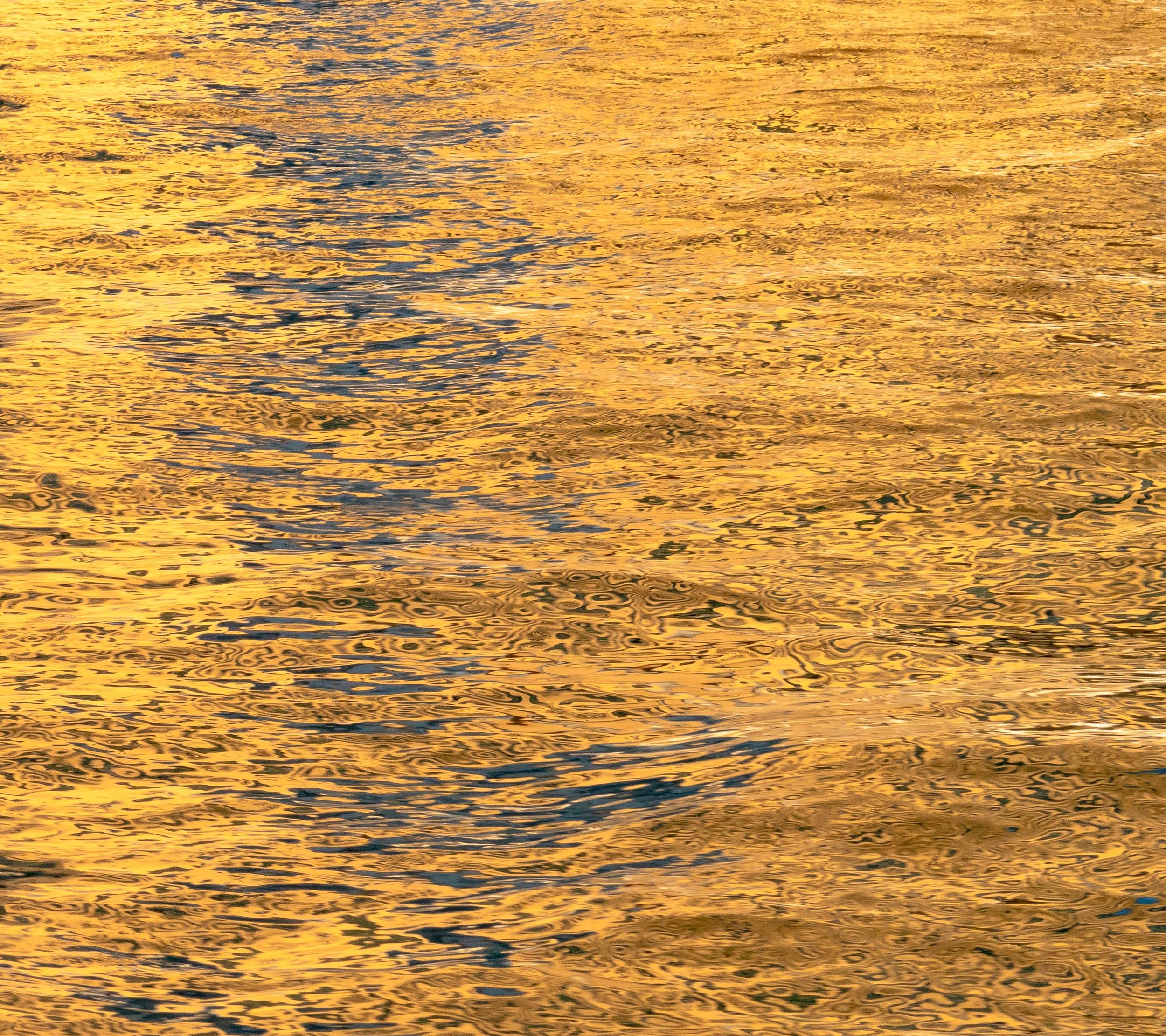 Gold Leaf on Water 2