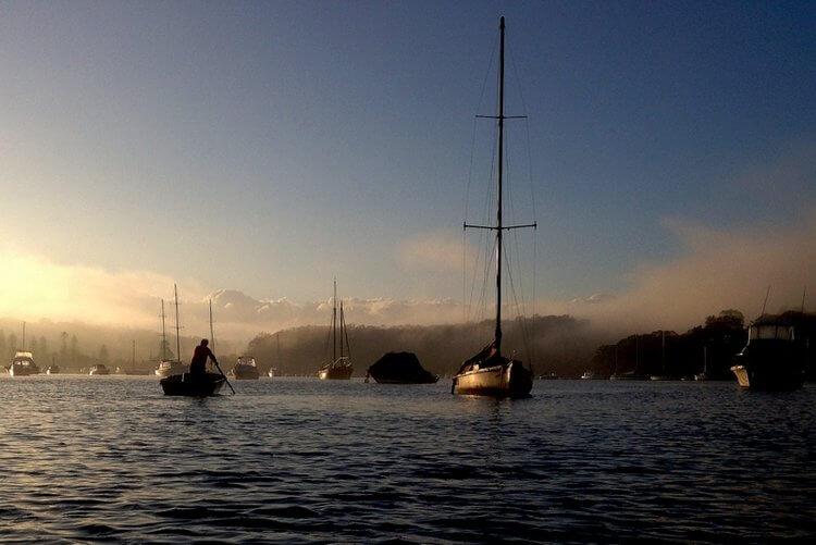 Middle Harbour, Sydney, Australia facing north