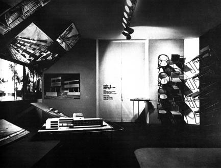 Sala 5 della Deutsche Werkbund Ausstellung, Grand Palais Parigi 1930 - Walter Gropius con Herbert Bayer