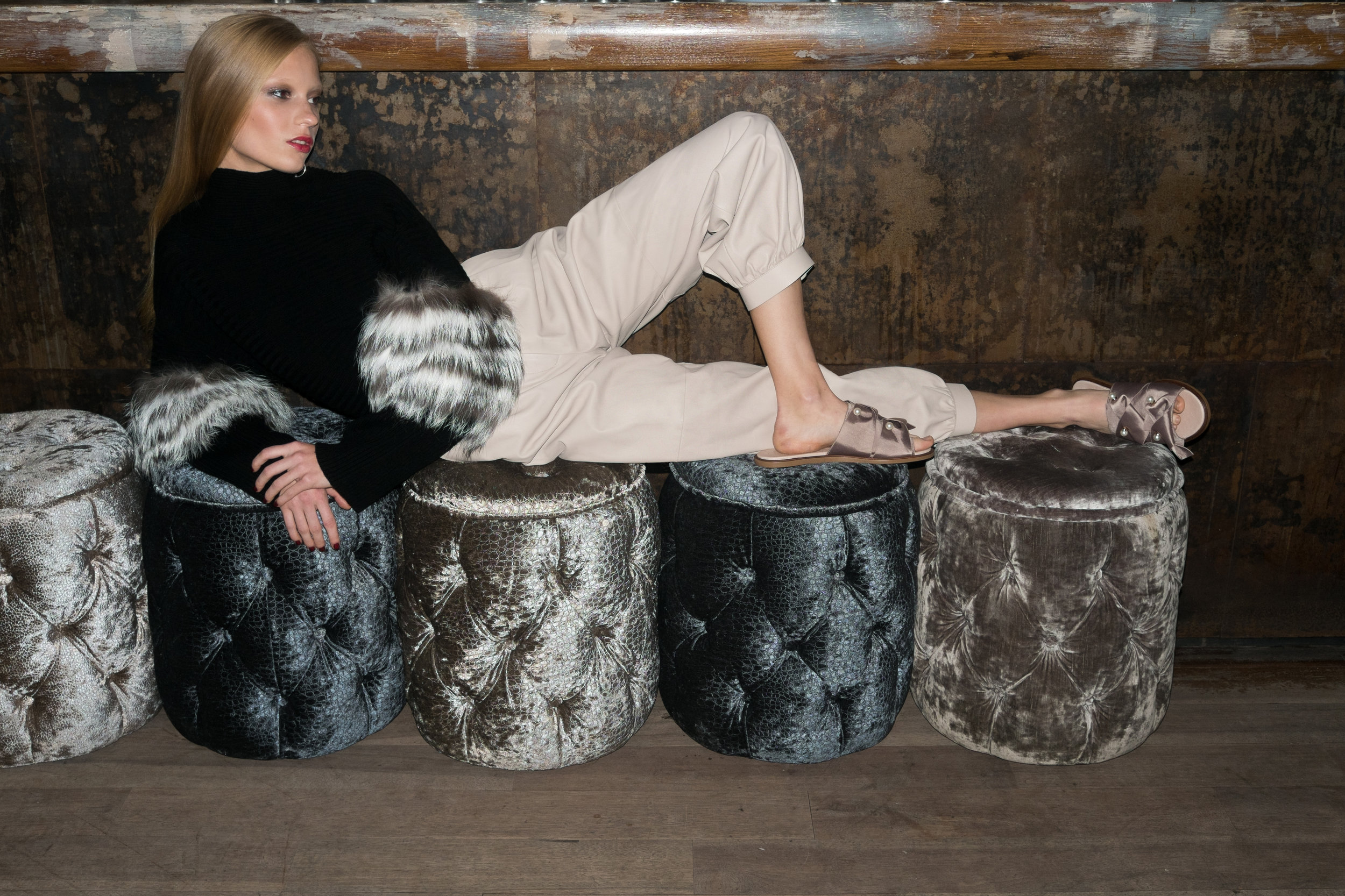 Oversized Ribbed Sweater with Silver Fox Trim Sleeve.jpg
