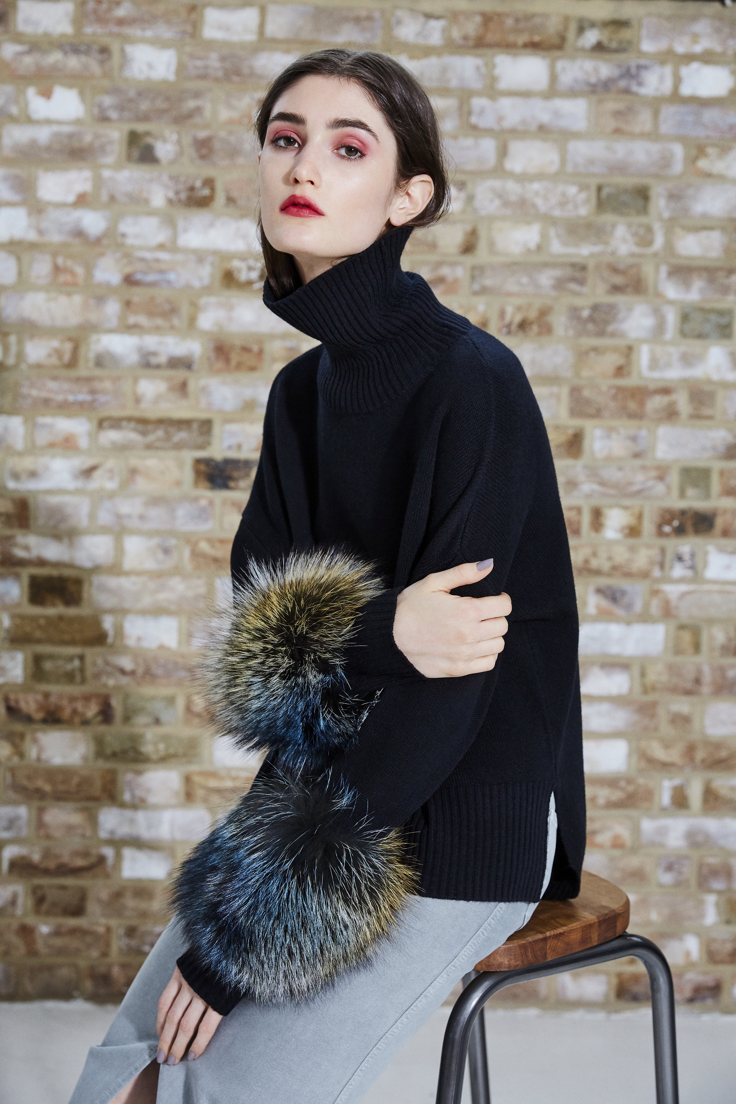 Black Cropped Polo Neck Sweater.jpg