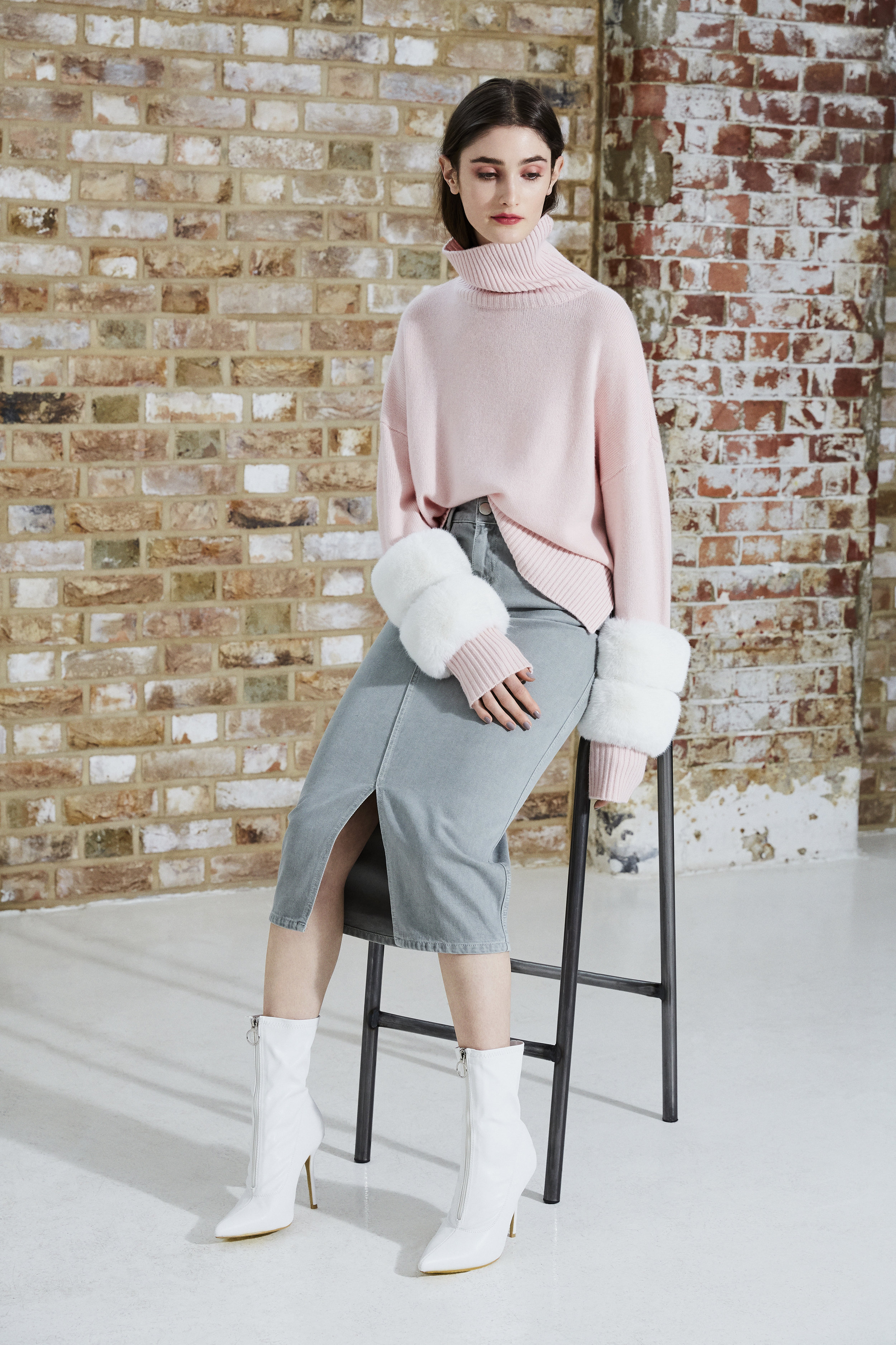 Pink Faux Cuff Sweater.jpg