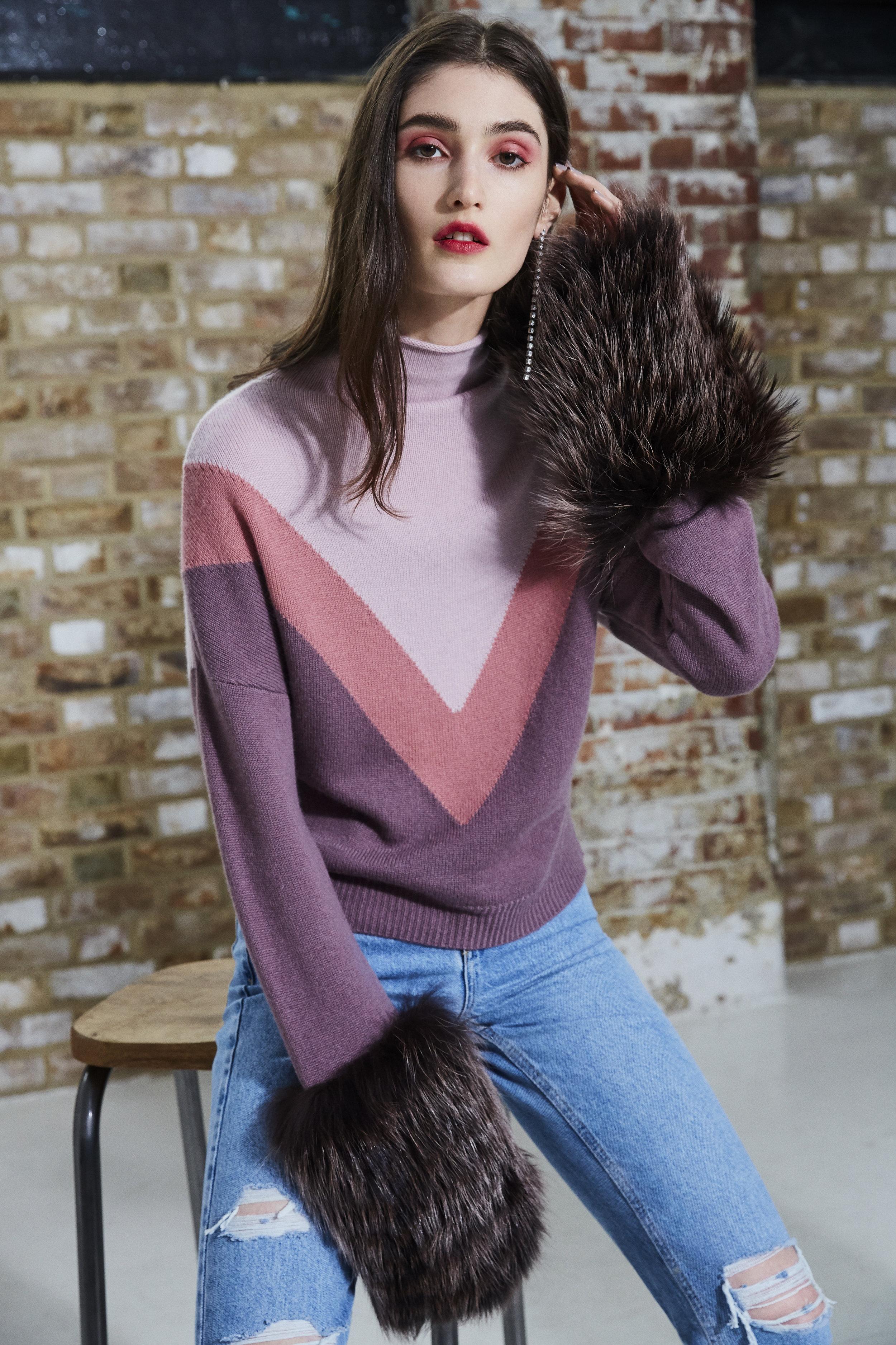 Triple Tone Cuff Cropped Polo Neck Sweater.jpg