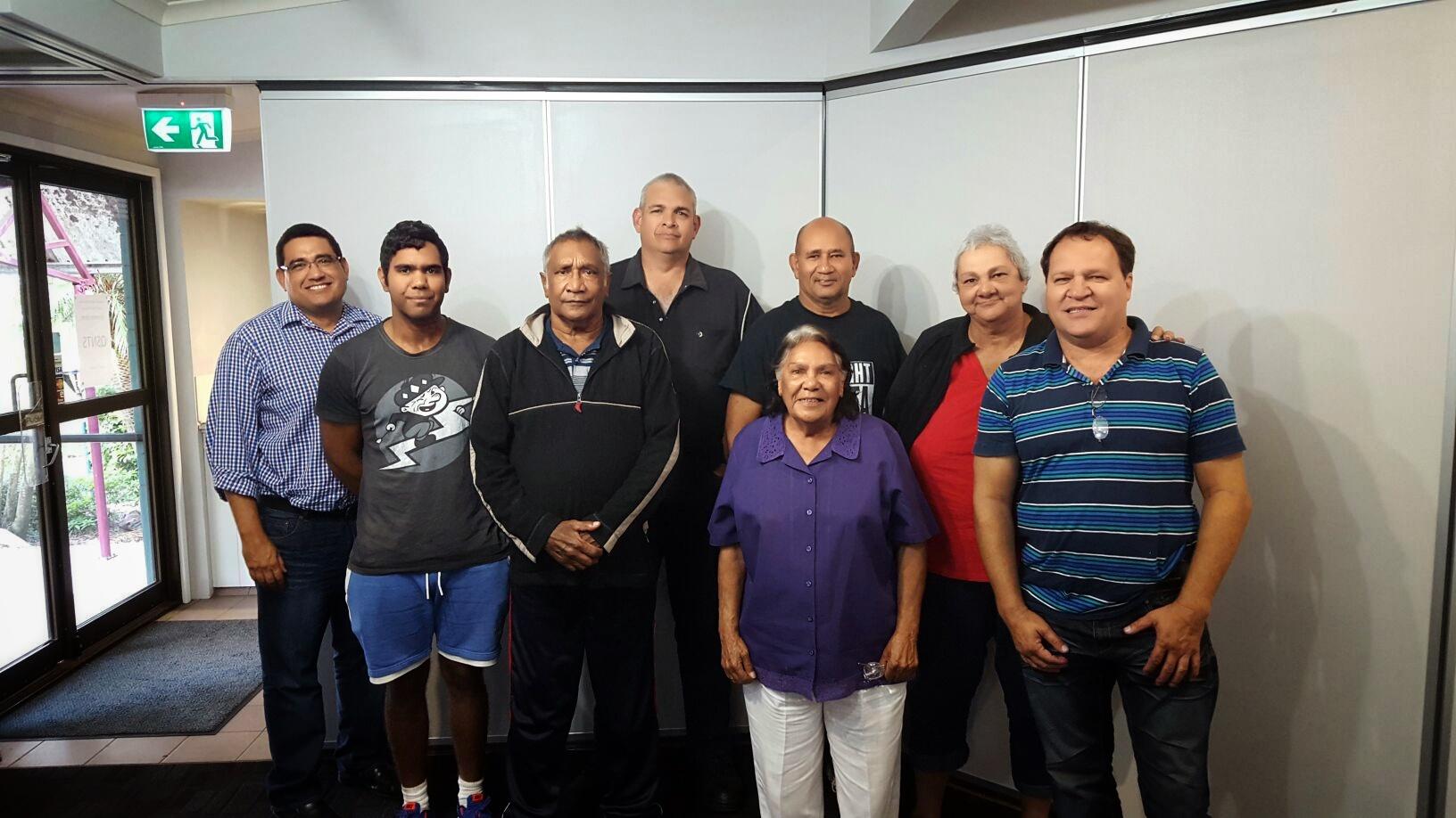 L-R: TMC Managing Director, Murray Saylor with the inspiring Gunggari community leaders
