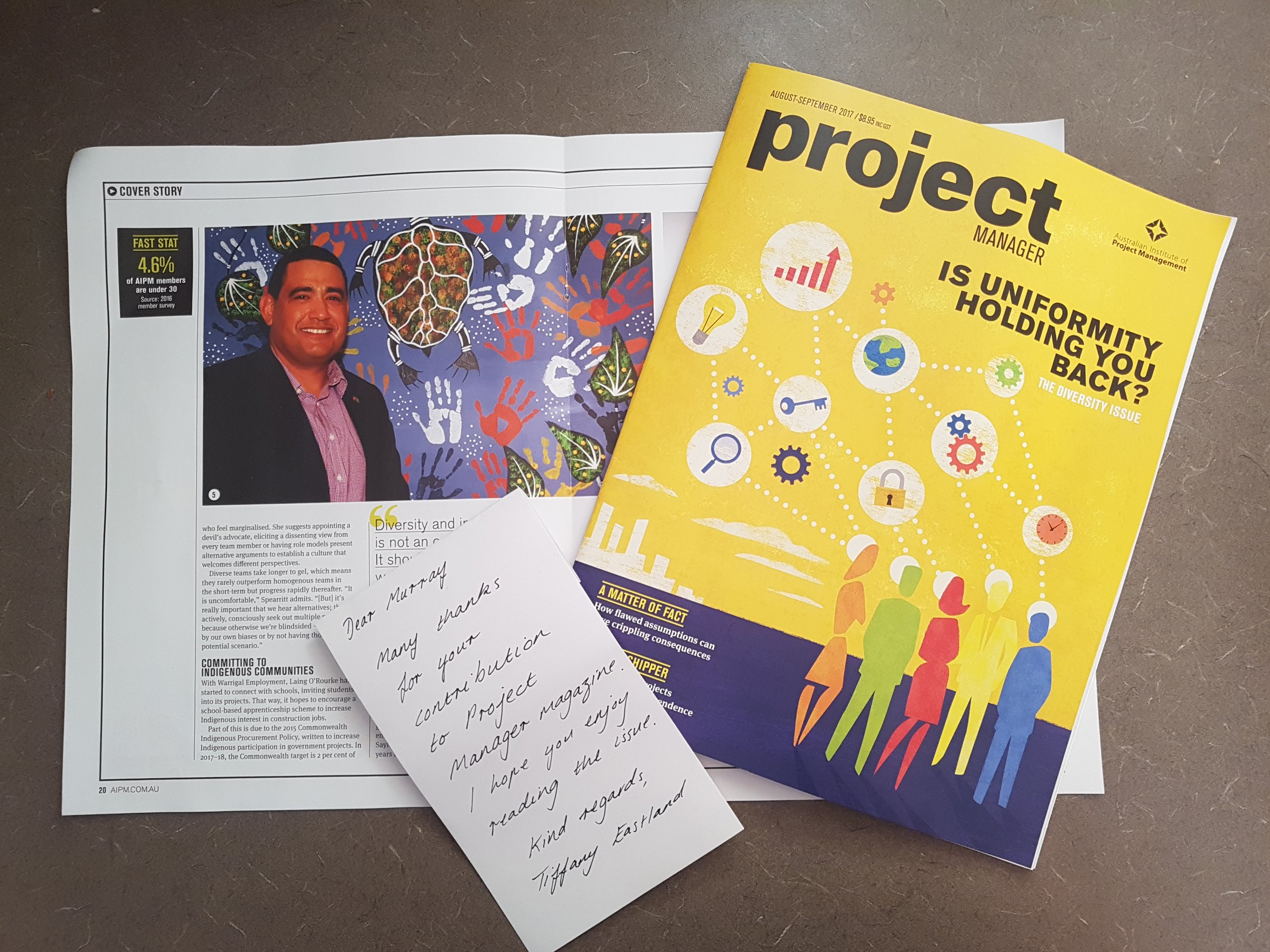 Project Manager Magazine article Aug/Sep 2017