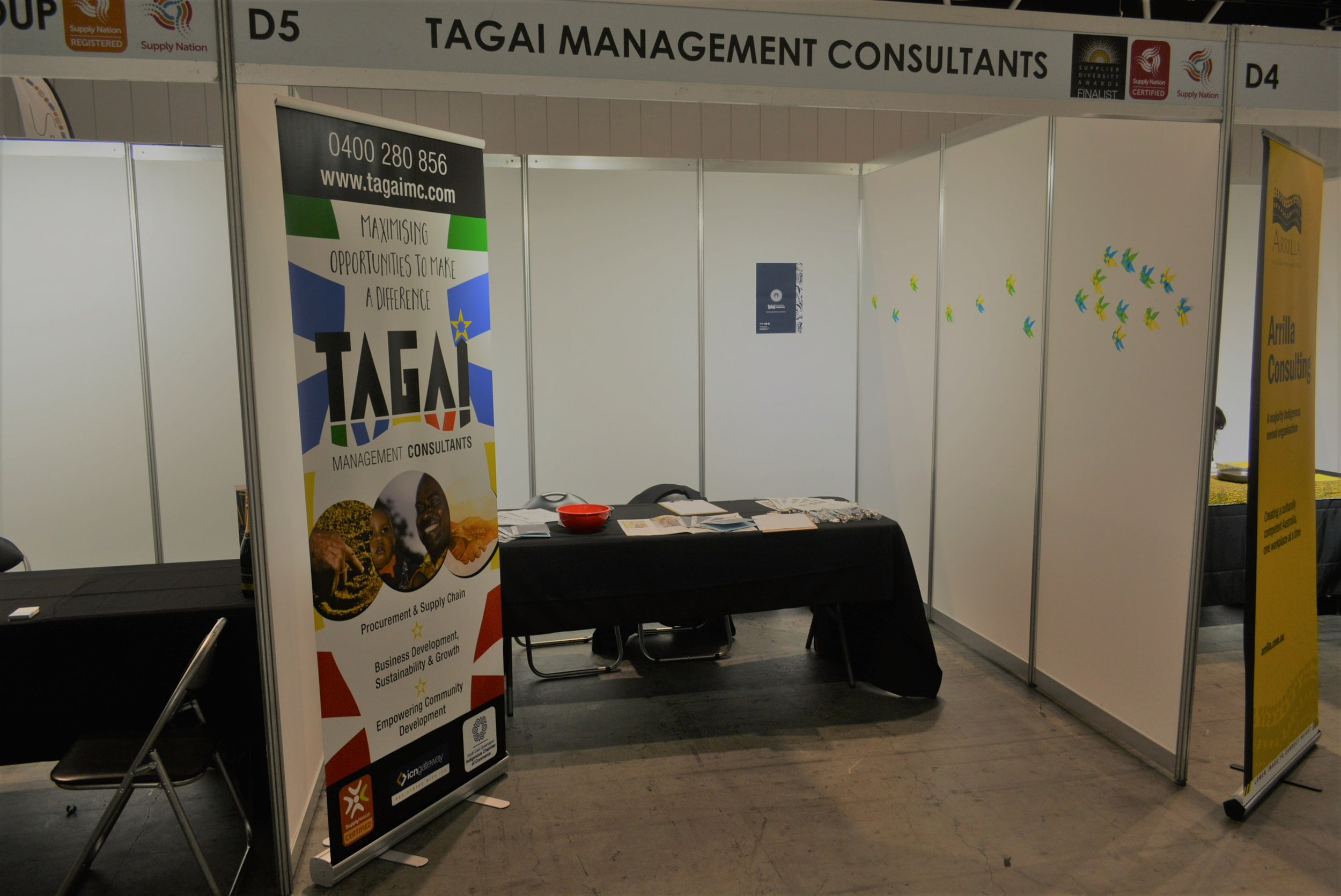 Tagai Management Consultants 2018 Supply Nation Connect Trade show booth