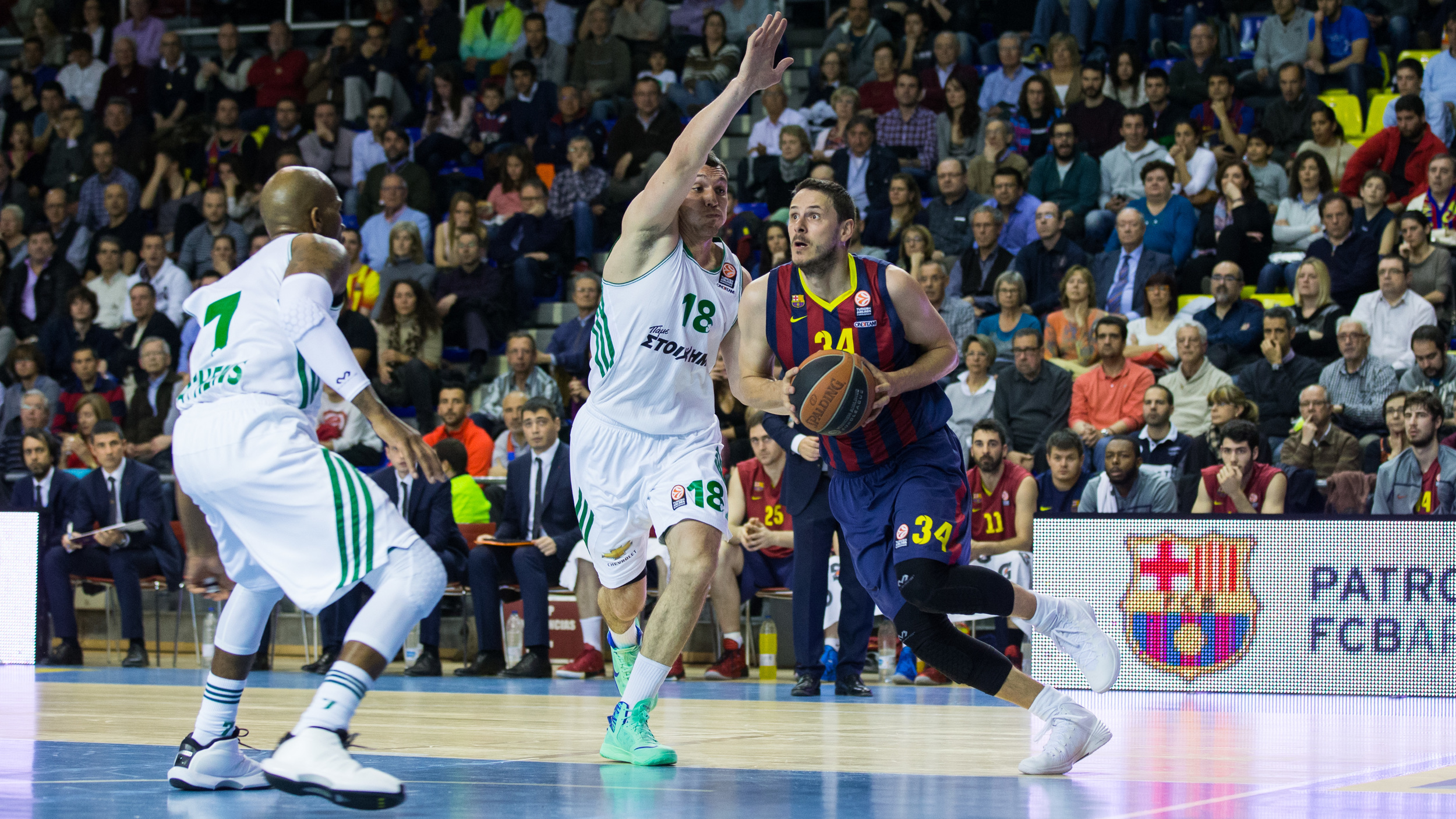 Barcelona will have the home court advantage in the quarterfinals