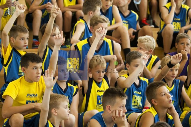 Kids are working hard and showing a lot of enthusiasm in practice,