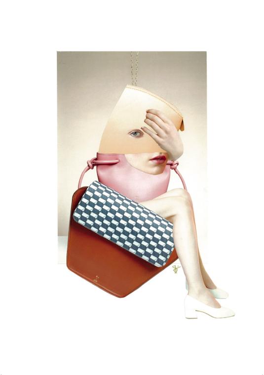 RUIGROK V/D WERVEN ' Sample Sale Collab' - Speciaal voor -en in samenwerking met het Nederlandse design tassenlabel RUIGROK VAN DER WERVEN ontwierp ik een tweetal collages uitstuitend met campagnebeelden van R v/d W zelf. De collages zijn gebruikt voor de flyers ter aankondiging van de pop-up Sample Sale in Amsterdam. Daarnaast maakte je kans om één van de twee originele collages te winnen bij aankoop van een tas tijdens de pop-up sample sale in Amsterdam. Beide werken waren daar ook als Art Print in limited oplage van 10 stuks (per stuk) te koop. ruigrokvanderwerven.com