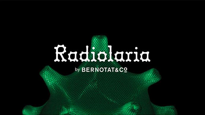 Bernotat&Co - Radiolaria  - Videoprojectie in de stand van Bernotat&Co (o.a. tijdens de interieurvakbeurs 'Salone del Mobile' in Milaan)ter promotie van de lampenserie 'Radiolaria'.