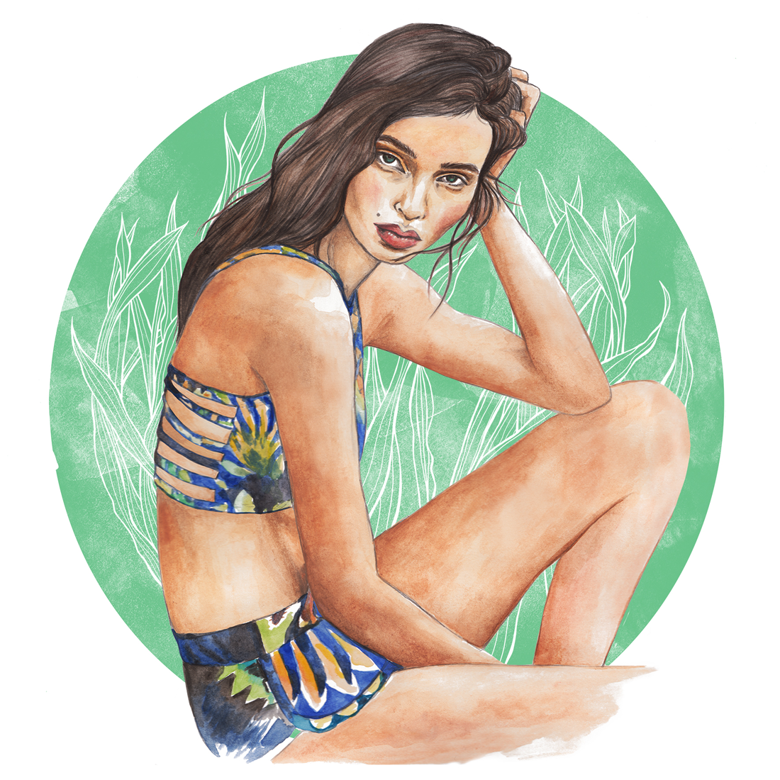Graphite and water-colour    Luma Grothe for Cia Maritima