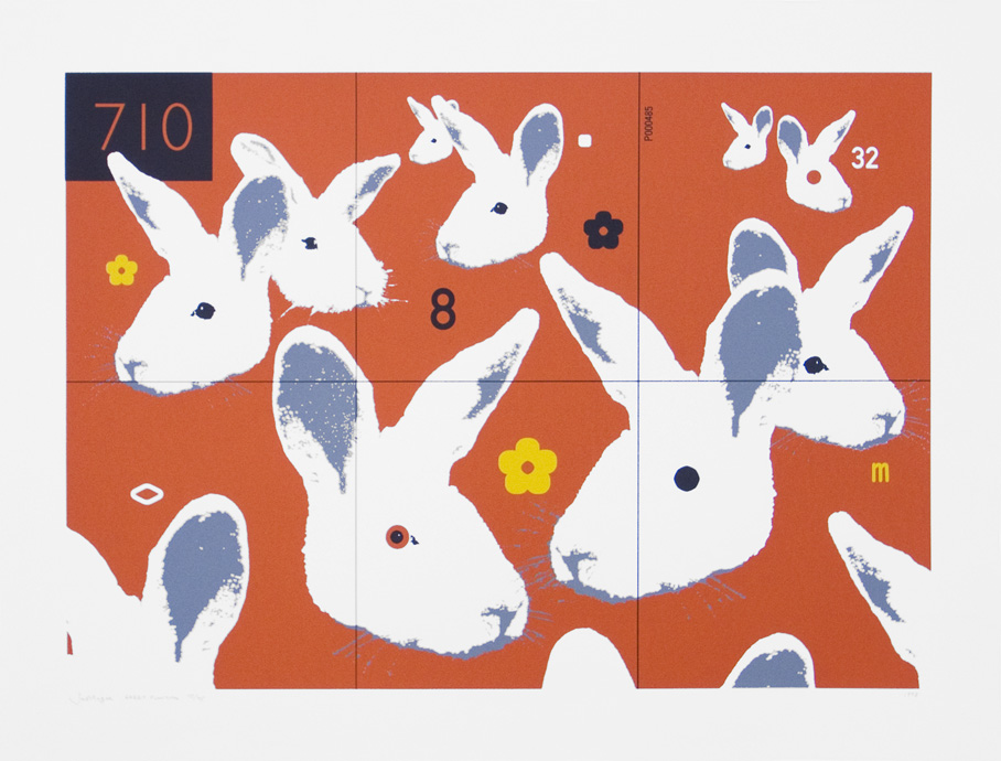 Rabbit Function  Date printed 1998 Price £295 Print type Silk Screen Print Number in edition 75 Colour Four colours Paper White, 750x560mm Image area 650x460mm Signed By artist in pencil Production information