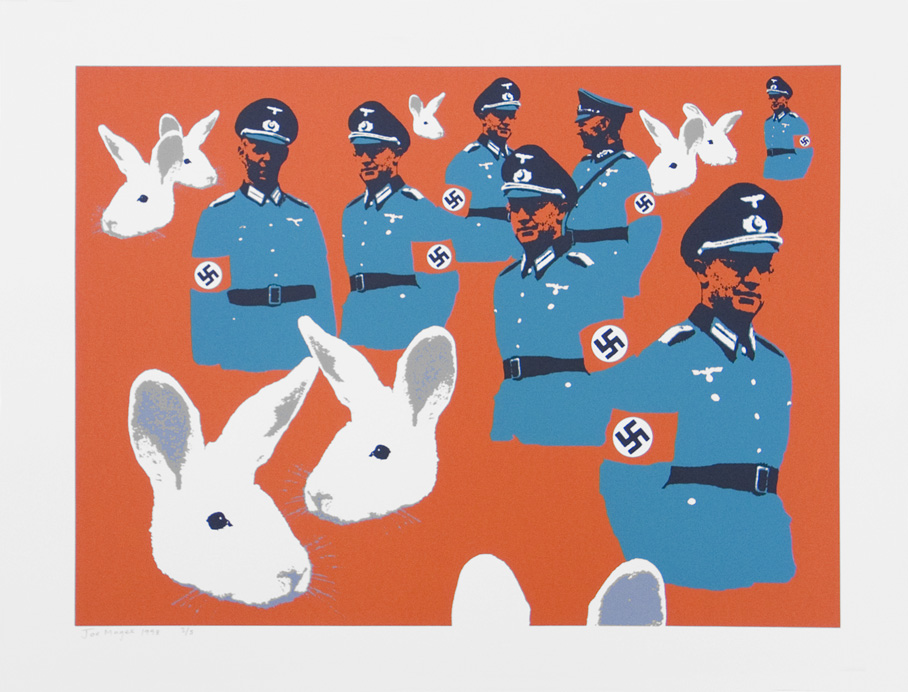 Nazi Function  Date printed 1998 Price £500  SOLD OUT  Print type Silk Screen Print Number in edition 5 Colour Four Paper size 750x560mm Image area 630x460mm Signed By artist in pencil Production information
