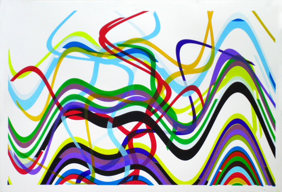 Scatter  Date printed 2008 Price £500 Print type Silk Screen Print Number in edition 100 Colour Ten colours Paper type Somerset Satin, white, deckled edge. Paper size A0 Image area 108 x 70cm Signed By artist in pencil