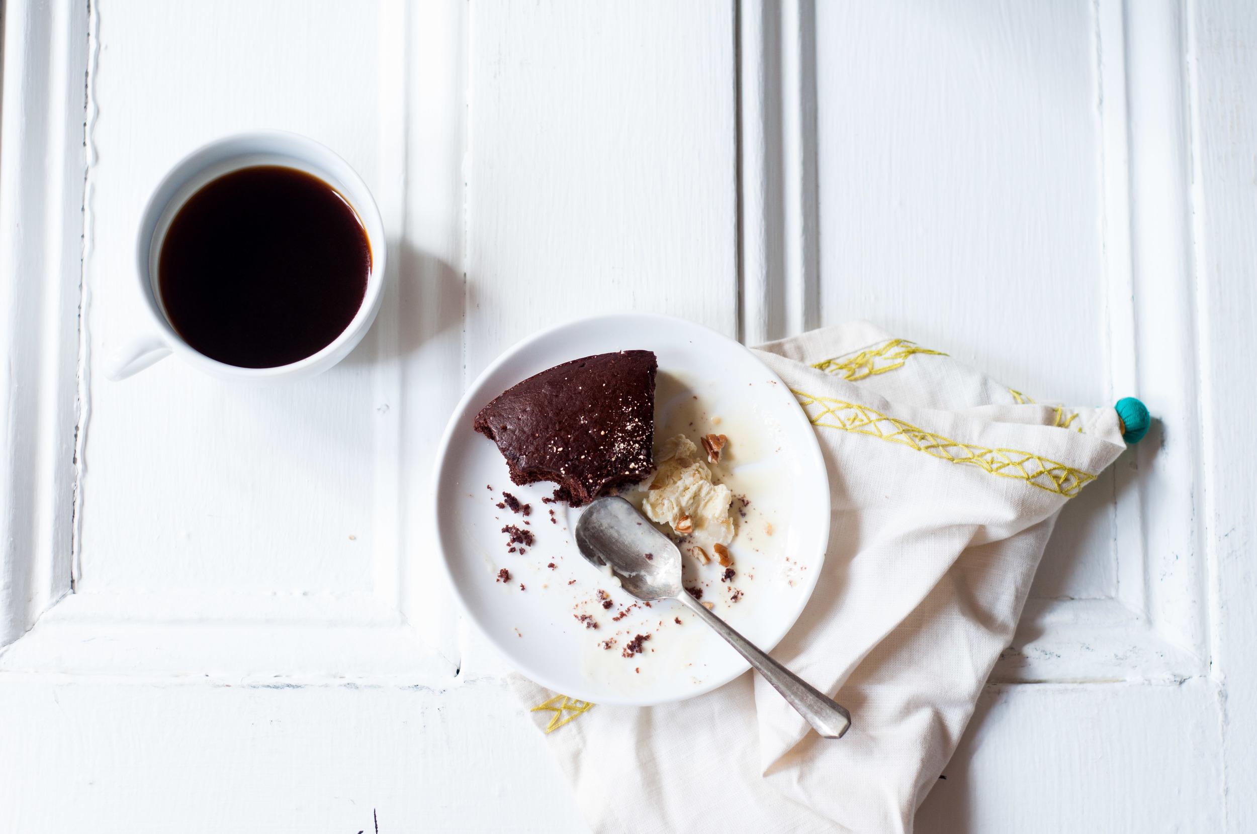 OAT + ALMOND CHOCOLATE CAKE