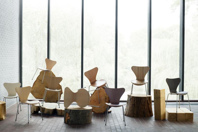 Wood Finishes Display- courtesy of Republic of Fritz Hansen