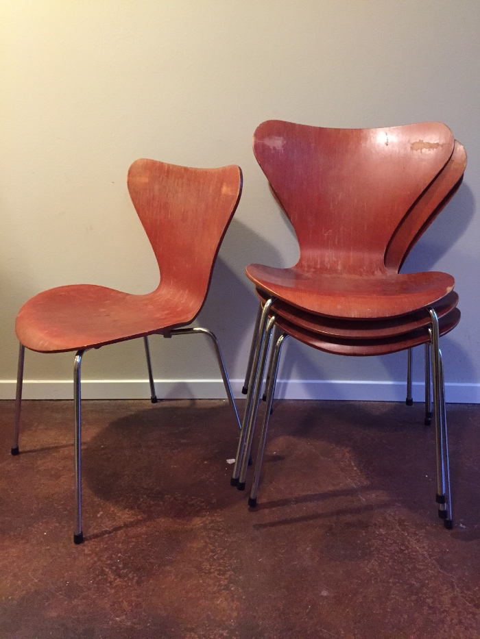 Our set of 6 chairs found on Craigslist