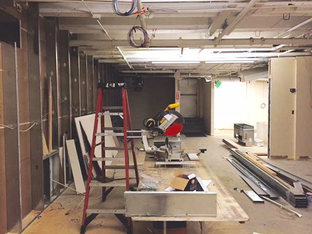 NOT our space, we are further than this:) But the workout facilities in progress for tenants of the Westland Building, can't wait to use this!