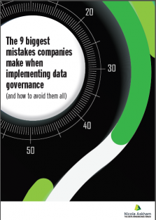 Data Governance mistakes report