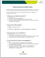 Data Governance Health Check