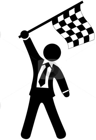 business-man-waving-flag