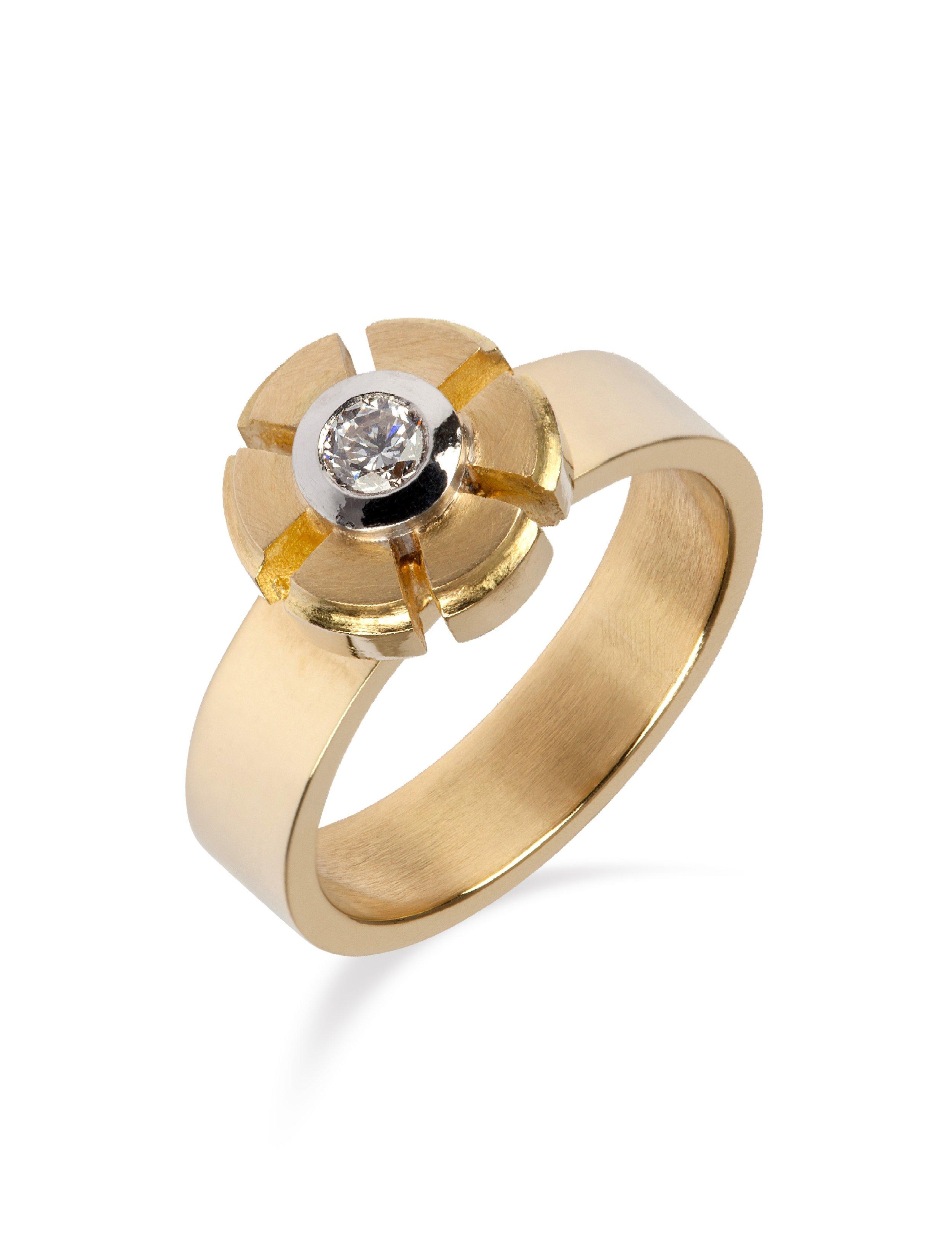 Yvonne Ross Gold Mechanical Flower Ring.jpg