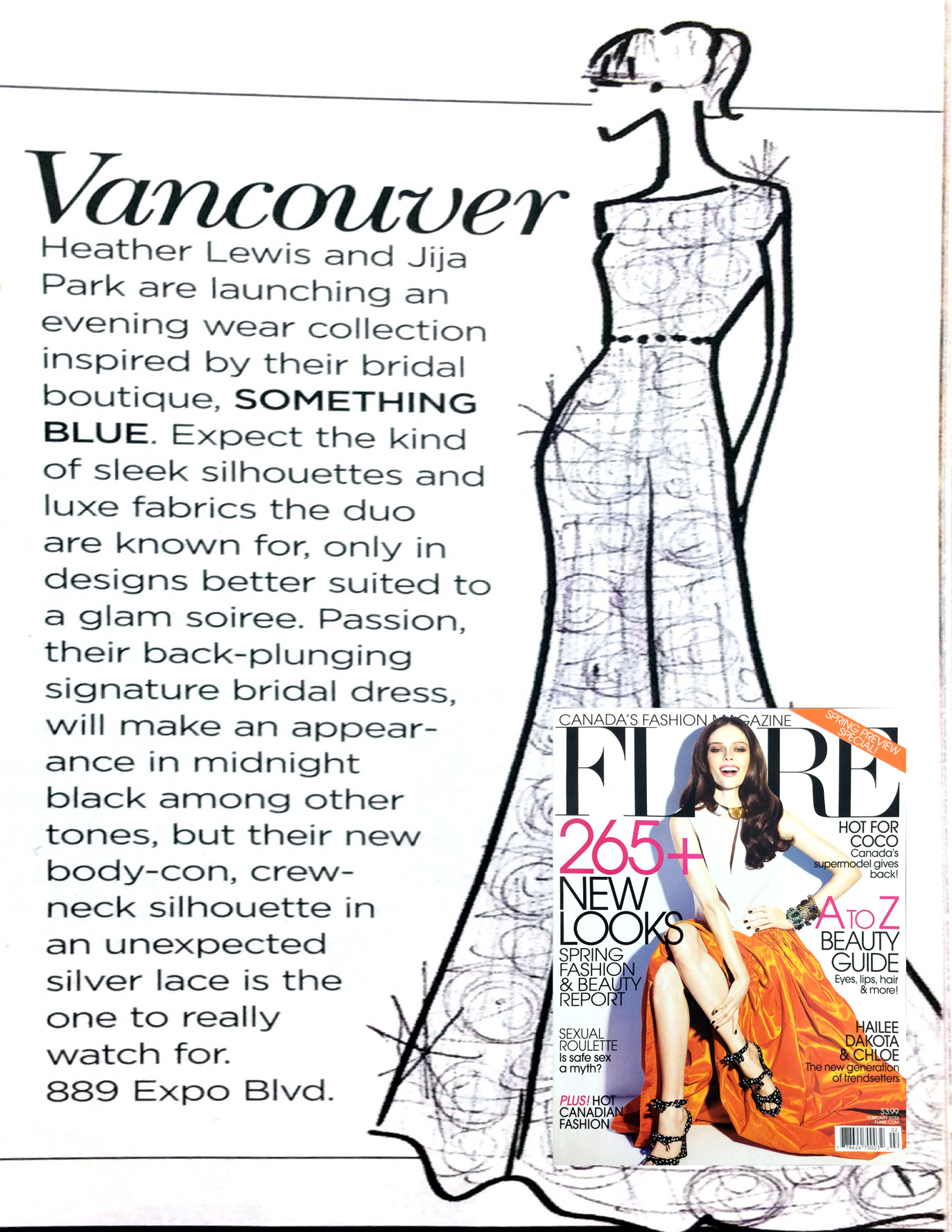 A feature on Something Blue Vancouver in Flare magazine