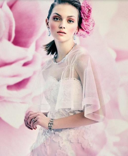 Ingrid gown in Real Weddings Spring/Summer 2014