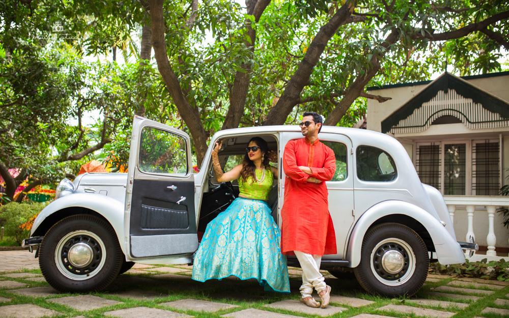 Vintage Car Couple Shoot | Bangalore Wedding Photographer-2.jpg