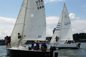 Summer Day Camp sailboat racing