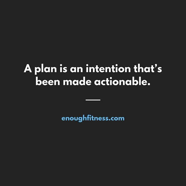 """It's one thing to have an intention. It's another thing entirely to make a plan.  For example, you might decide that you want to get more sleep. That's an intention, and it's where most people stop.  The problem with intentions is that they don't give your brain anything specific to act on.  You need to reverse engineer the intention by asking, """"What would help me get more sleep?""""  Let's say the main problem for you is falling asleep quickly (as opposed to staying asleep).  And let's say you realize that on nights when you read before bed, you go to sleep more easily.  Great. What would help ensure that you actually took the time to read each night?  Well, you might need to set a reminder on your phone to start winding down one hour before you want to fall asleep.  Next, you might need to pick up a book that will help you relax. I recommend fiction over a business or personal development book.  Finally, you could put the book right on top of your pillow as a reminder to actually read it and give yourself an offramp each day before bed.  It's totally normal to adjust your plan once you realize what works and what doesn't. But you need to make a plan in the first place. Don't just rely on willpower or motivation.  This is what I do with my client by the way. They come to me feeling overwhelmed by all of the things they know they should do. They leave with a specific plan of attack that's going to work for them.  Remember: a plan is an intention that's been made actionable.  If you have an intention of losing weight in the next few months, shoot me a message and we'll make a plan together.  . . . . . . #myfitnessjourney #fitnessplan #fitnesstip #fitnessadvice #loseweightnow #habits #weightlossresults #weightlossprogress #losefat #weightlosstips #weightlosshelp #weightlossideas #bellyfat #ifitfitsyourmacros #truenutrition #healthyeatinghabits #gymtips #buildmuscle #getstronger #buildingmuscle #burnfat #sleeptips"""