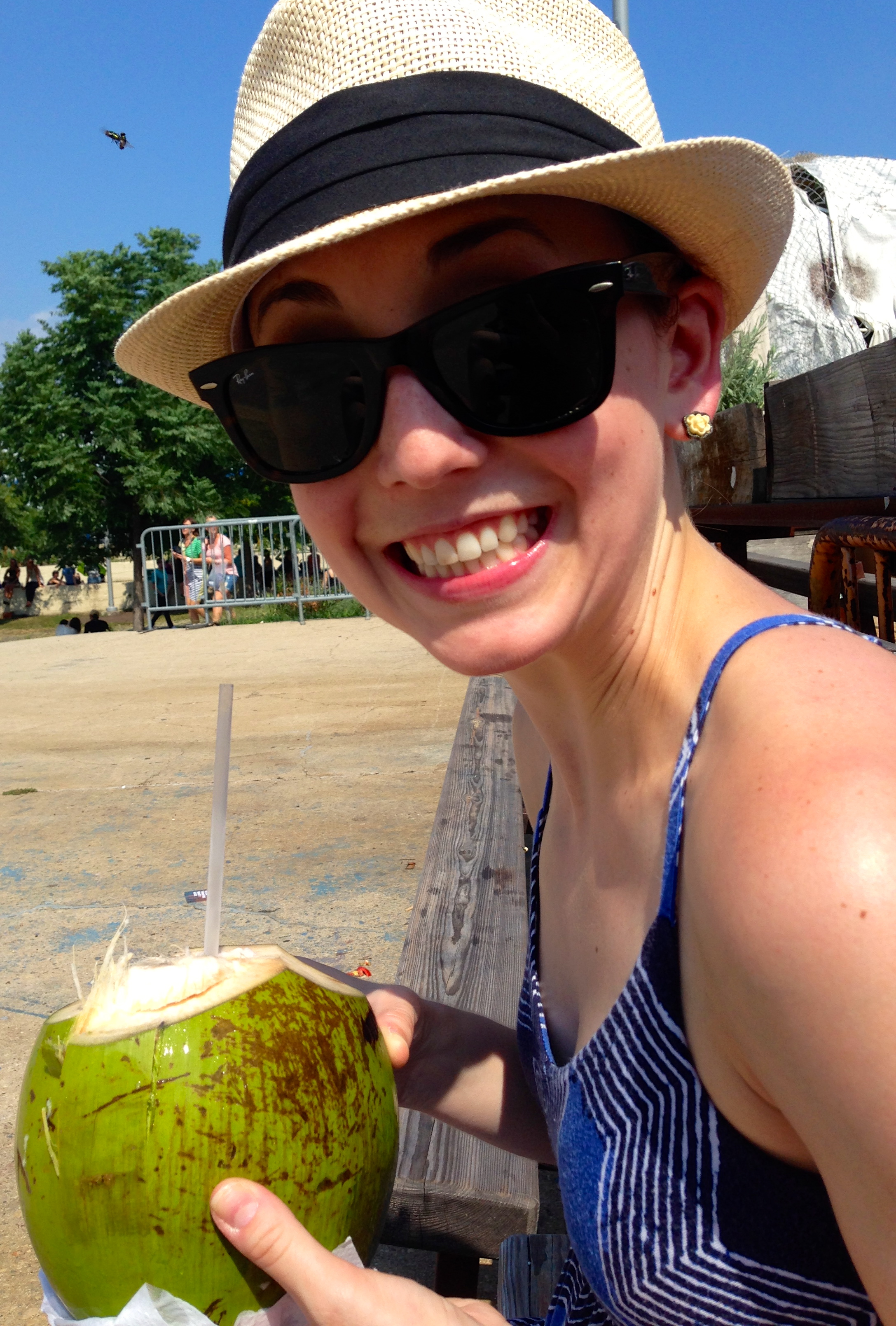 I was so excited to get my hands on a fresh coconut finally at Smorgasburg in Williamsburg, BK, NY!