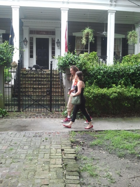 Recording with Gaby in the Garden District of New Orleans