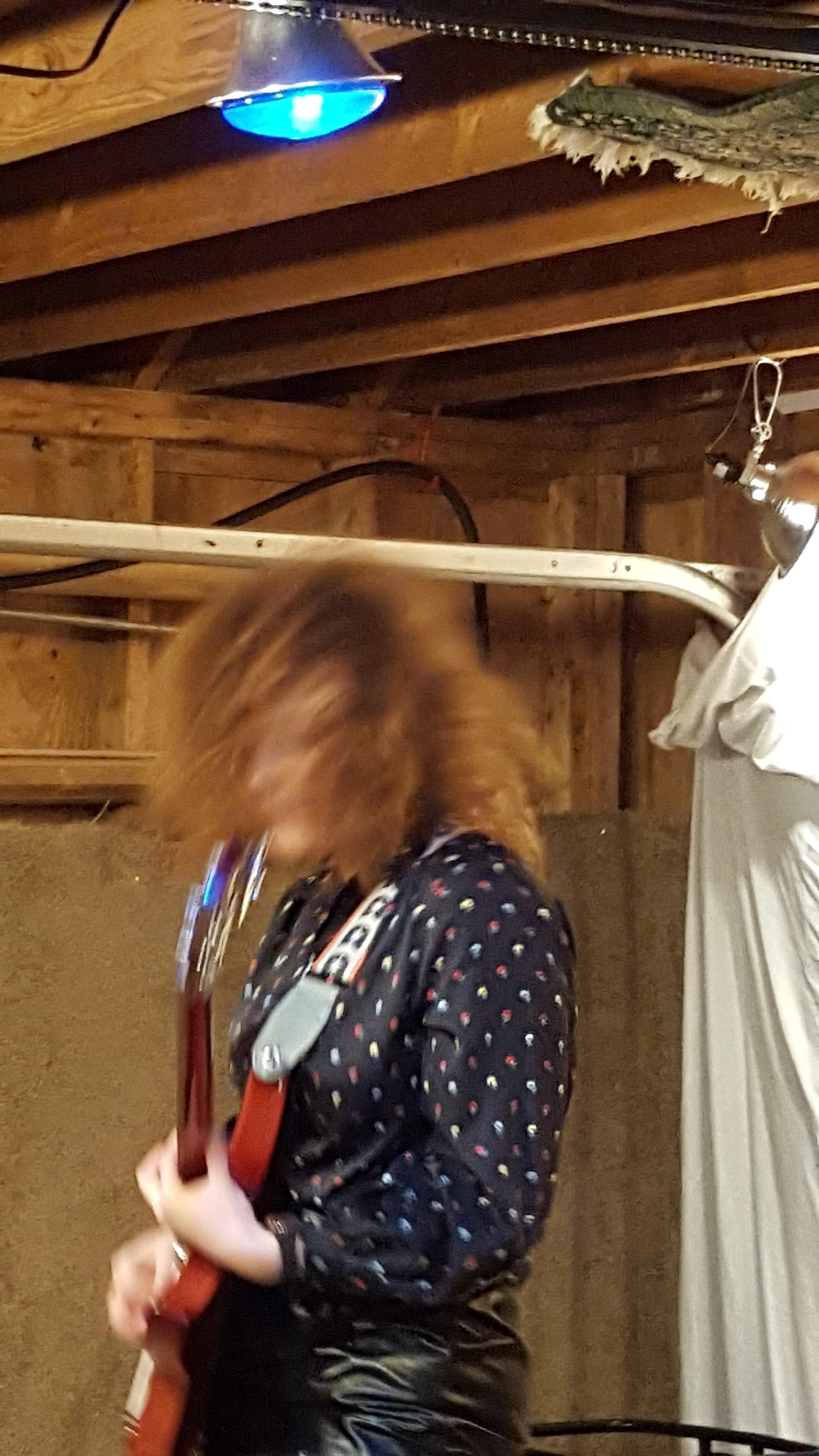 Miss Alex White jamming during DZ Winterfest