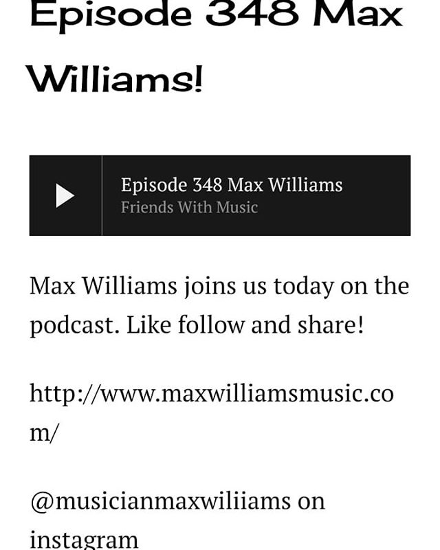 Back into it. The DZ Fest hangover is finally starting to wear off. Tons of new episodes are out now. Check out episode #348 featuring @musicianmaxwilliams link in the bio and below  http://www.friendswithmusicpodcast.com/episodes-341360/2019/5/6/episode-348-max-williams #latestepisode #podcast #musicpodcast #chicagopodcast #chicagomusic #localmusic #music #supportlocal #supportlocalartist #dzrecords #maxwilliams