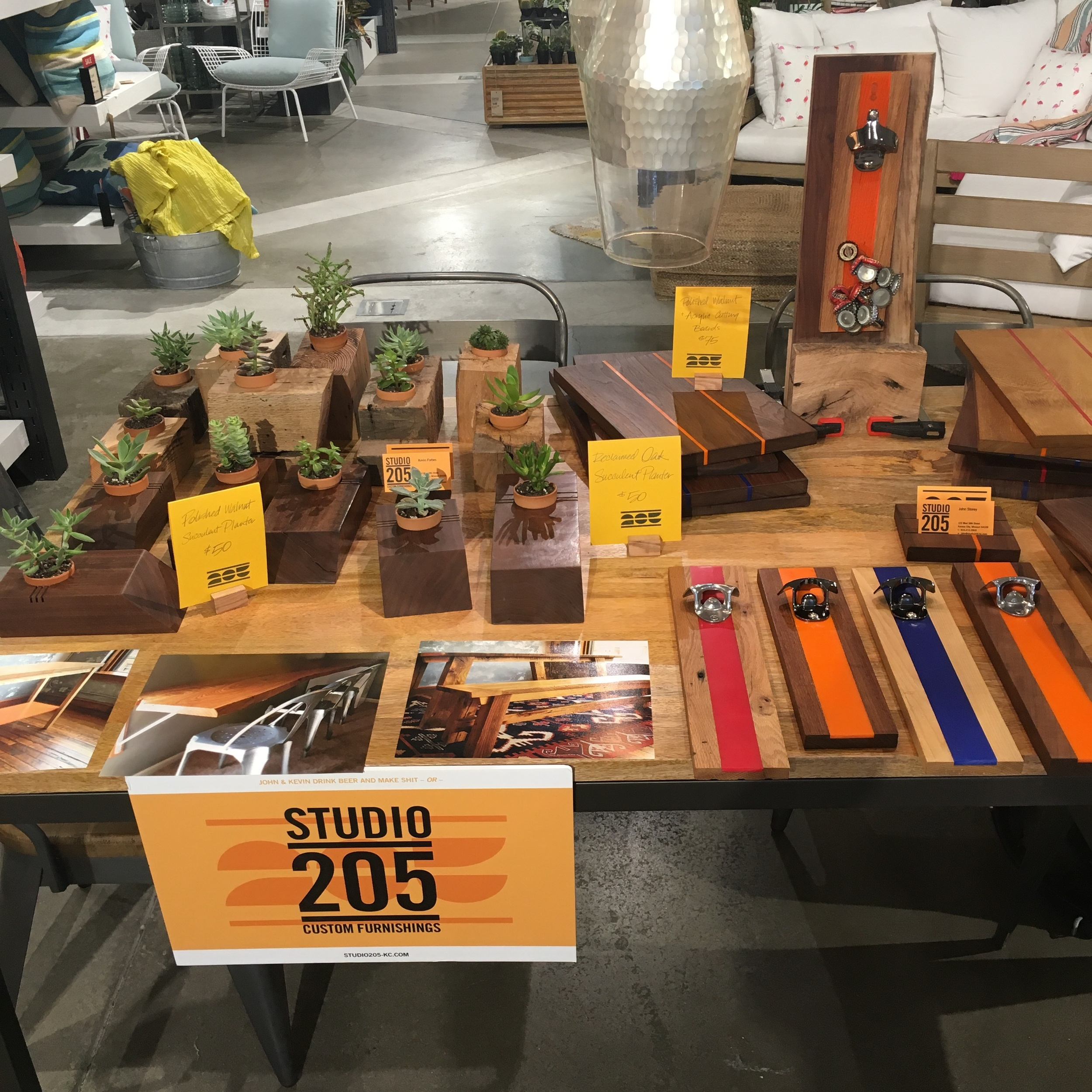 Pop-Up set up at West Elm Kansas City