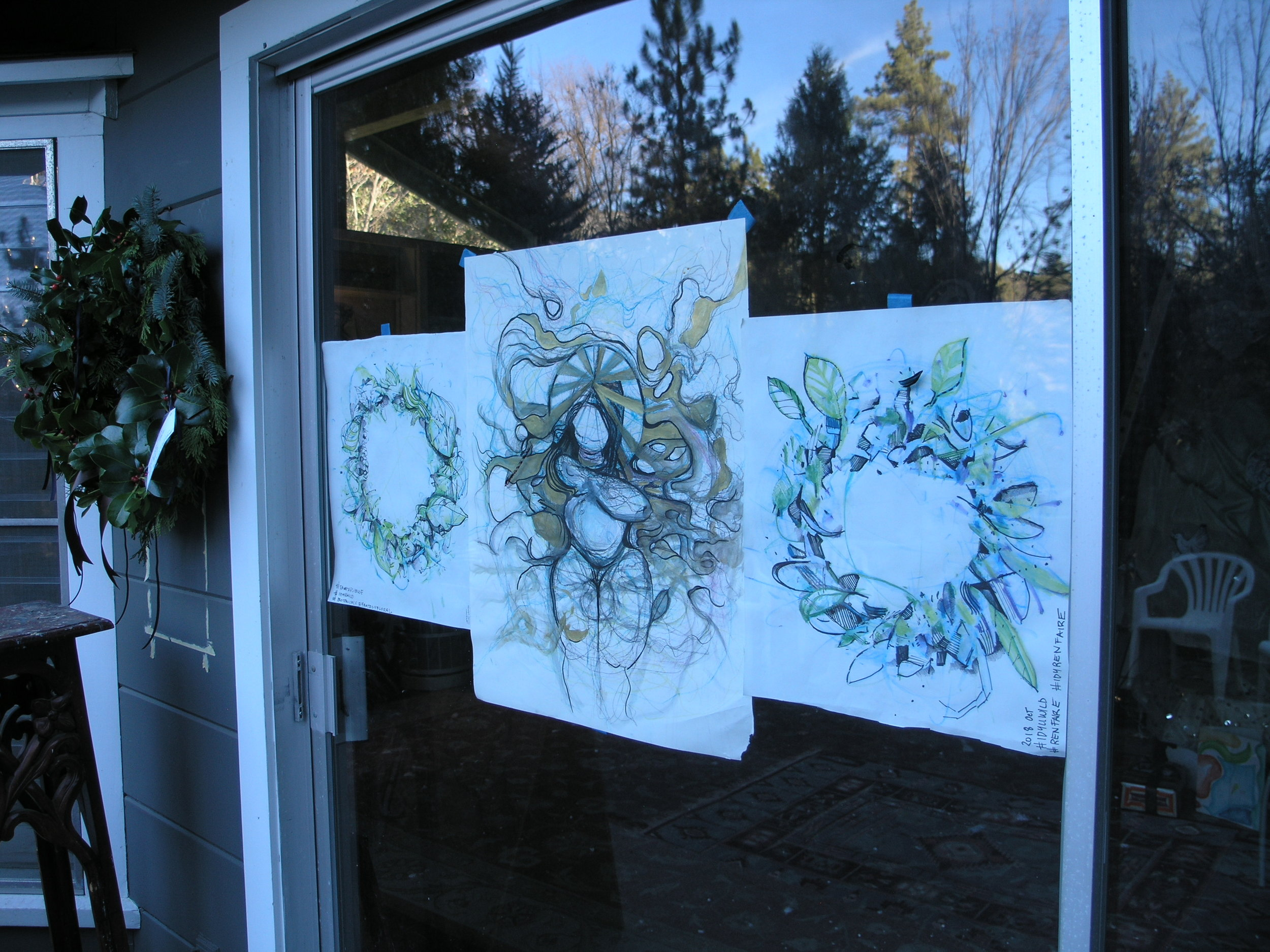 Angels and Wreaths being added to PaintersHouse Idyllwild Civic Art Rentals for a variety of community events and gatherings.