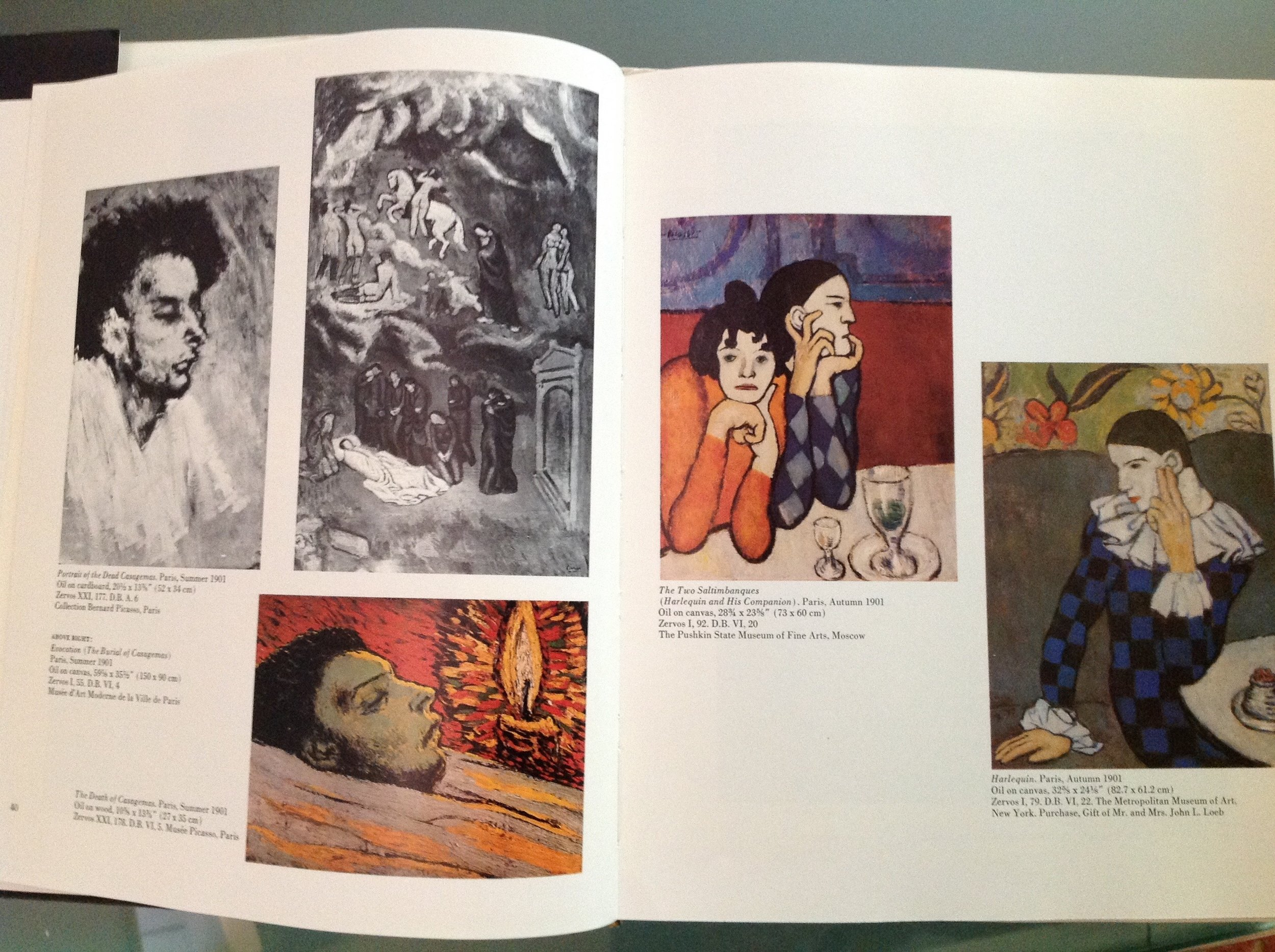 Notice how Picasso began painting Harlequins as a reaction to the death of his friend.  Portrait of Dead Casagemas