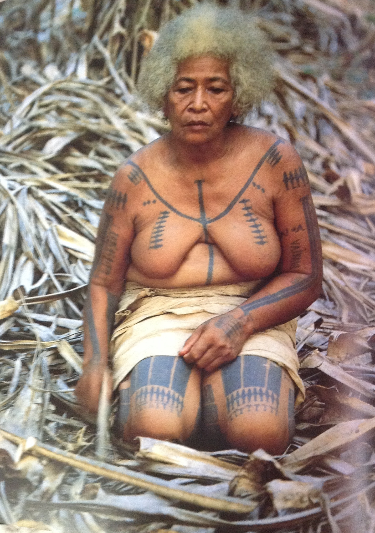 Polynesian woman-Tu'u tattoo for #Ink & #WildThings Colorways and Civic Art Collections- Photo from Spirited Earth Victoria Ginn
