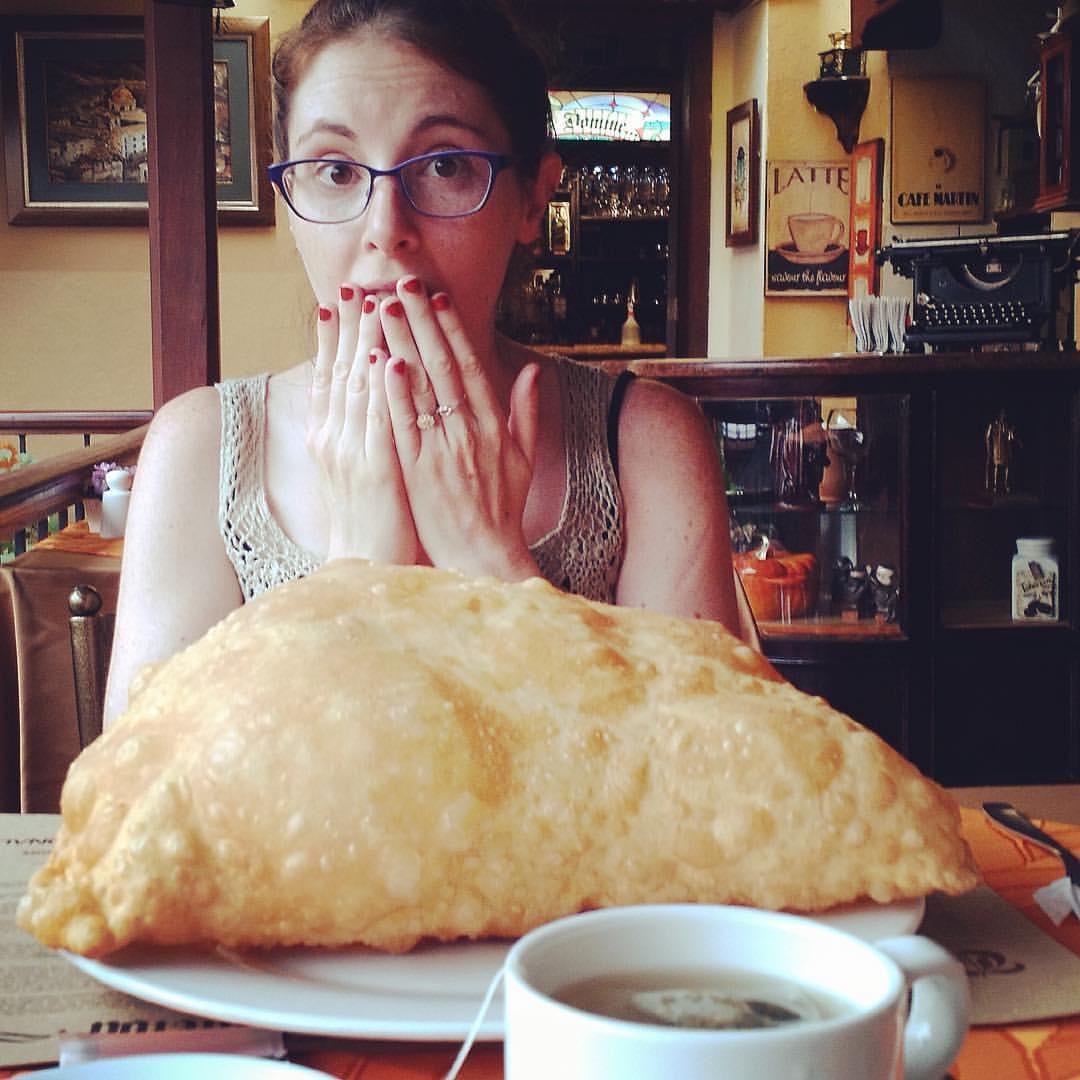 The BIGGEST empanada I've EVER seen!