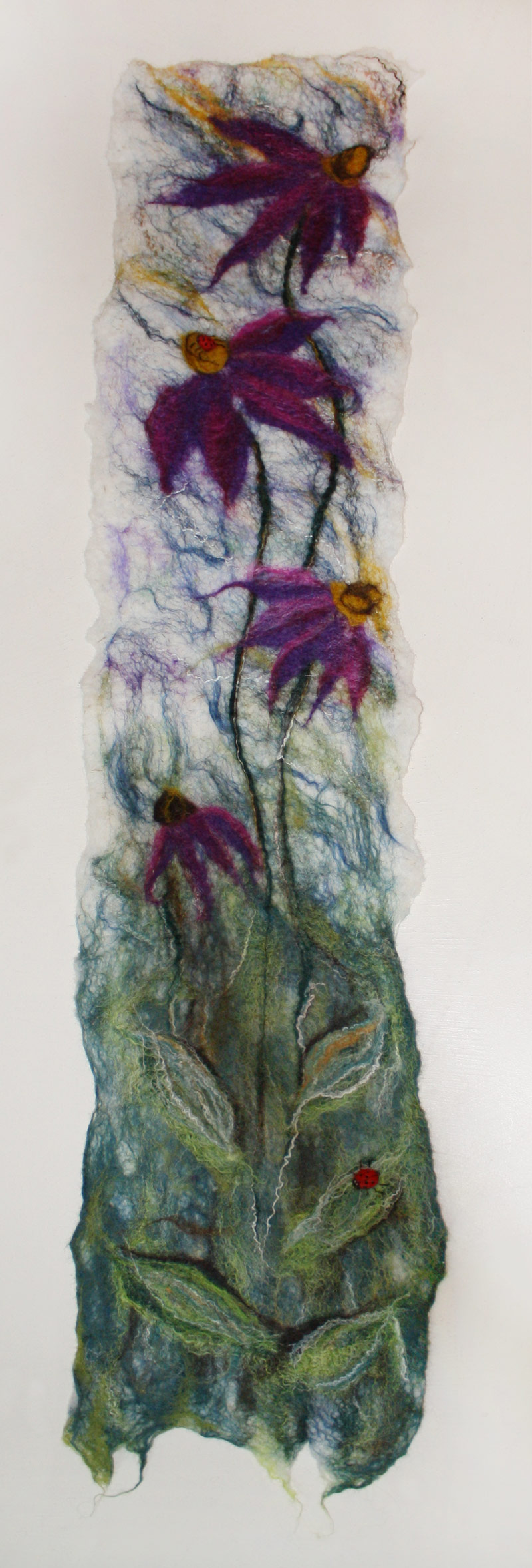 4 purple cone flowers, SOLD