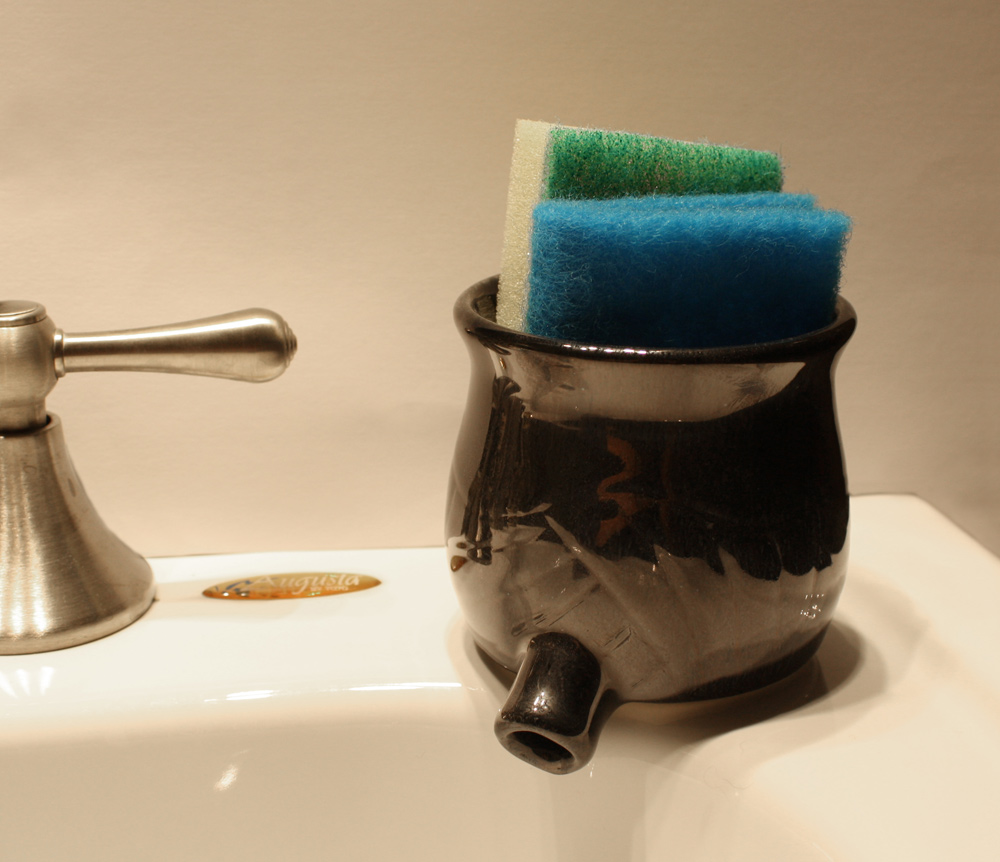 Black Sink Pot, pottery by www.MonikaSchaefer.com