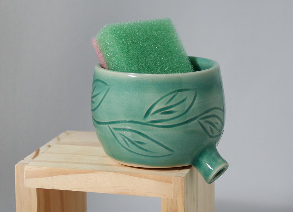 Sink Pot, pottery by www.etsy.com/shop/monikaspottery