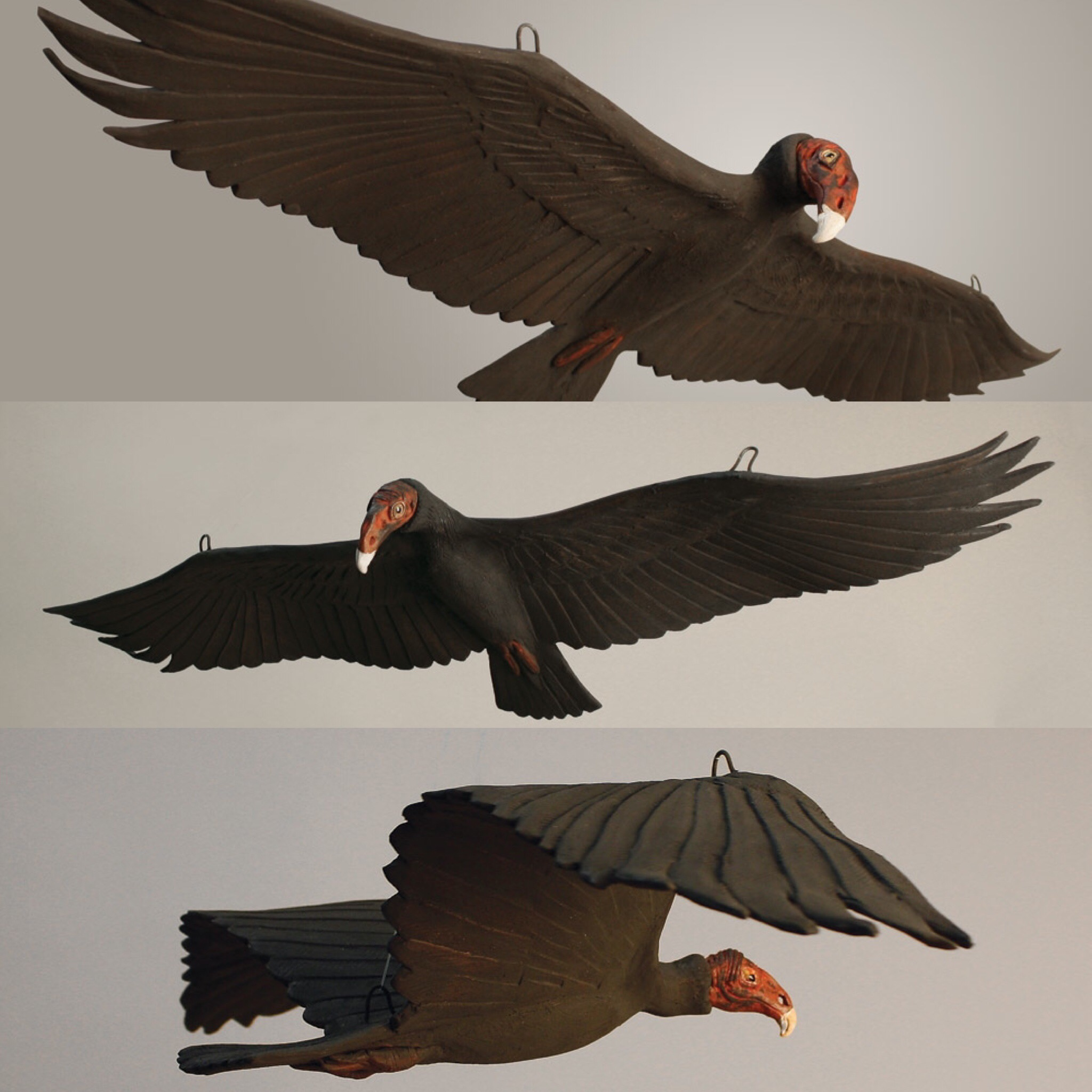 These were my 3 vultures that hung above everyone's heads in the AGB All Guilds Show last year.