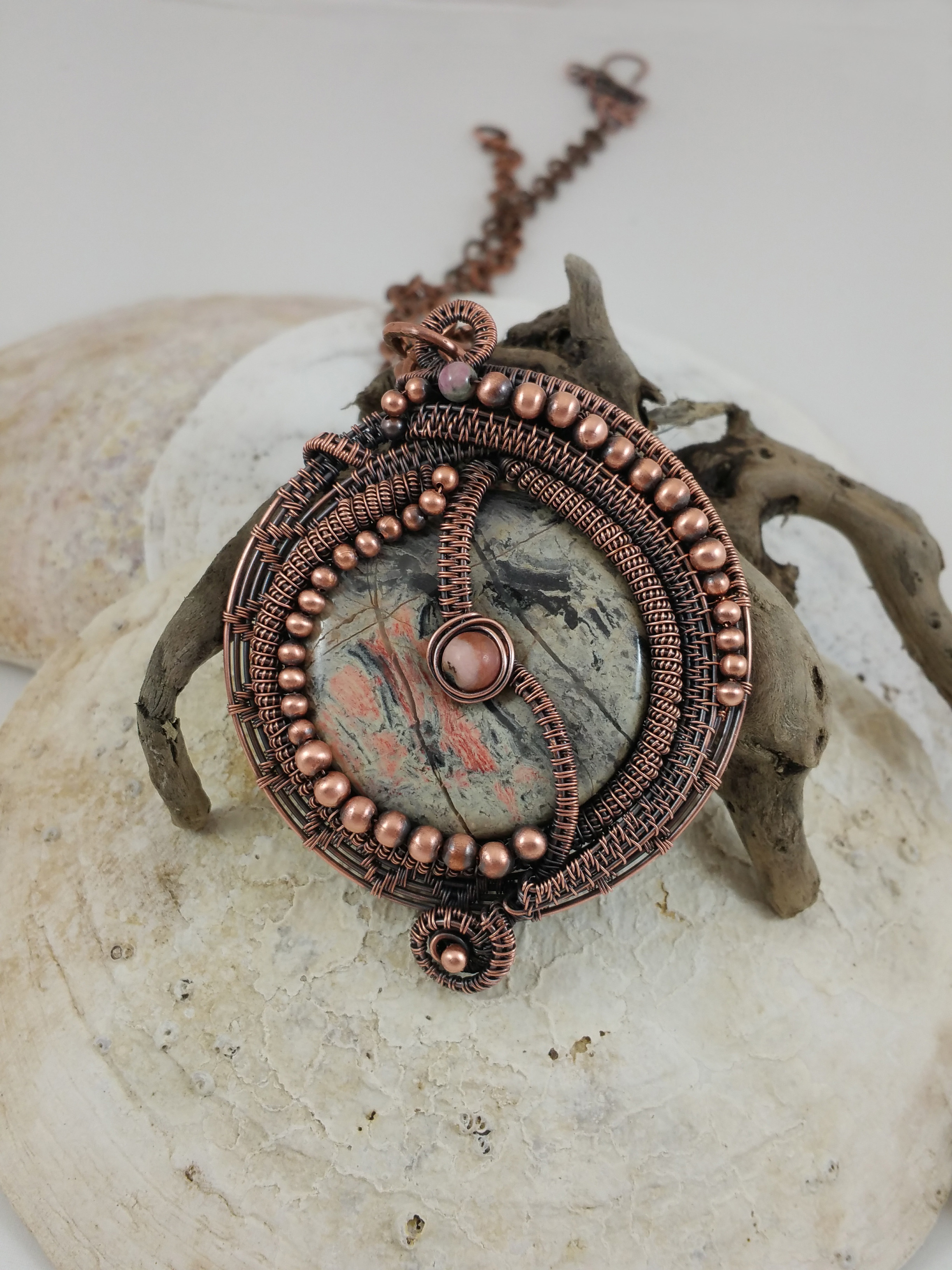 Wire wrapped pendant by The Artful Blingster