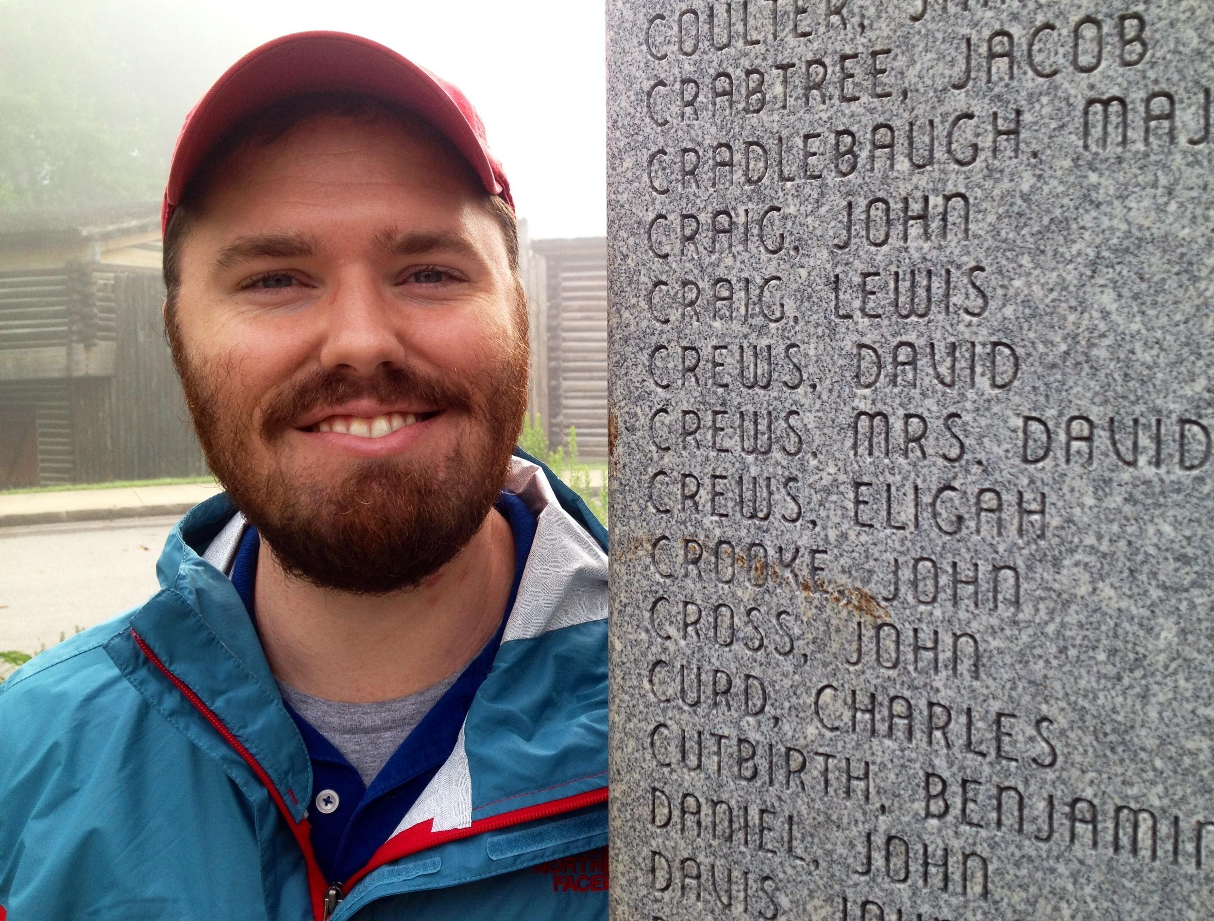 Apparently, John gave money to erect this obelisk back in 1981.