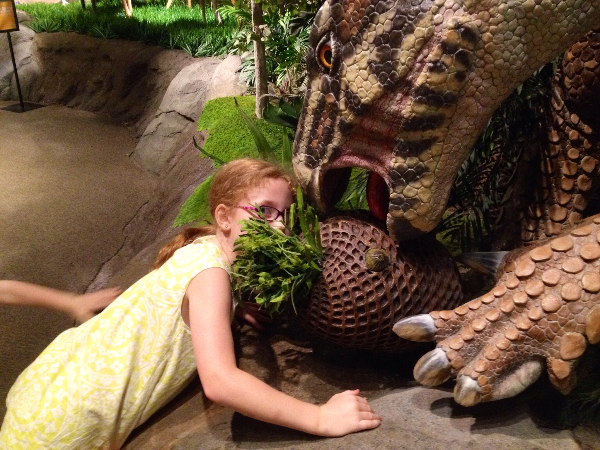 Yes, in the Garden of Eden dinosaurs and humans would sit down for a meal together and share strange melons.